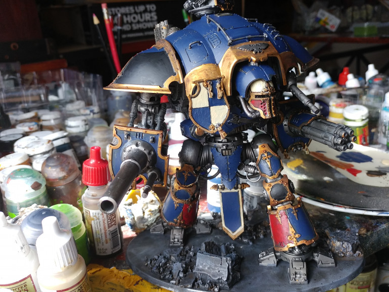 Model after block Colour and Soft Tone wash On Gold