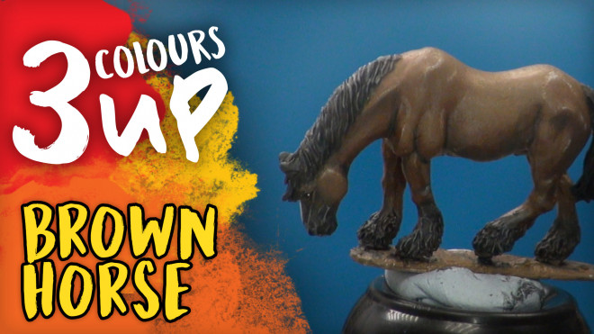 3 Colours Up: Painting Brown Horse Fur