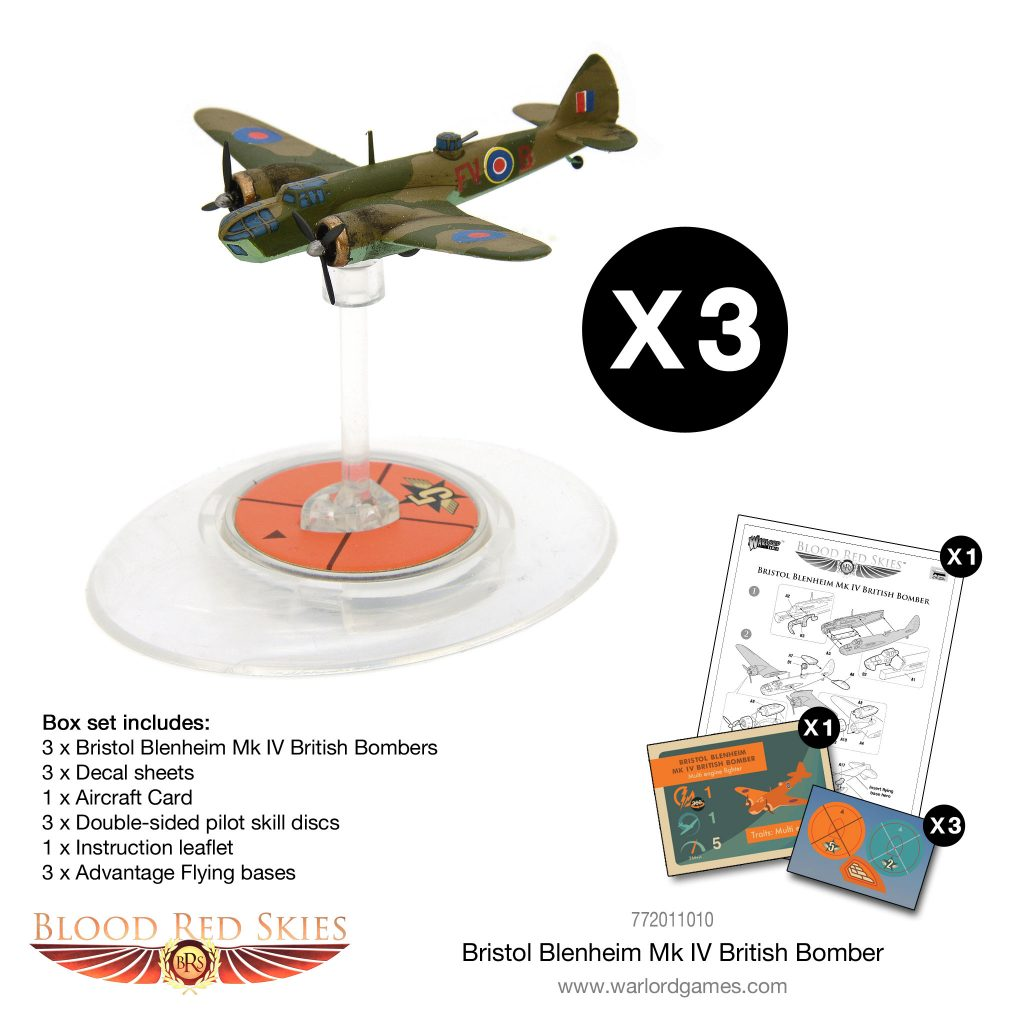Bristol Blenheim MK IV British Bomber Model - Blood Red Skies