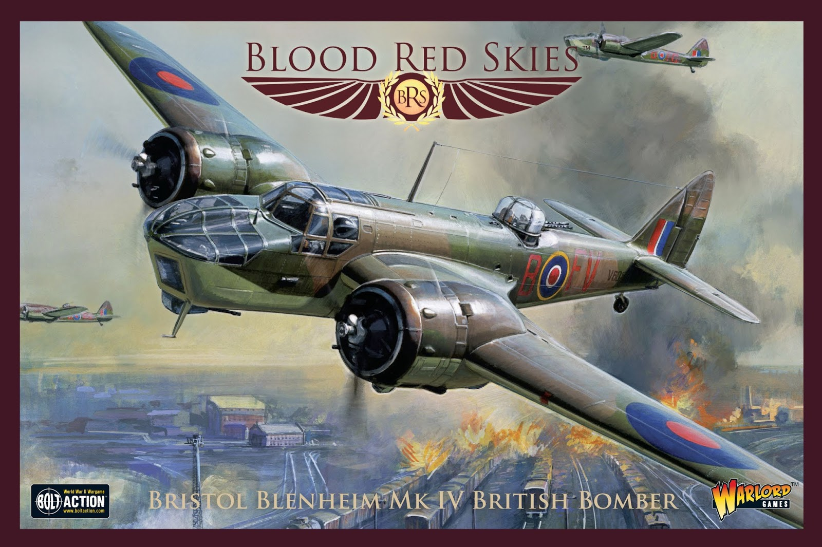 Bristol Blenheim Mk IV British Bomber - Blood Red Skies