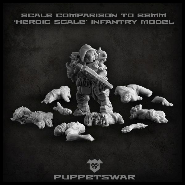 Corpse Pile Scale Comparison - Puppets War