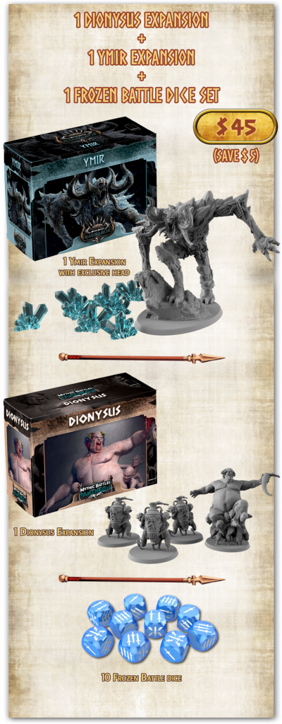 Dionysus & Ymir Expansions - Mythic Battles