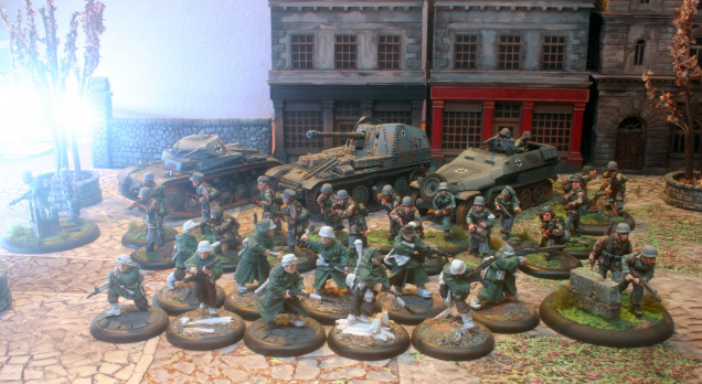 And a better pic of my Germans. Now to finish the painting! Let's do this!