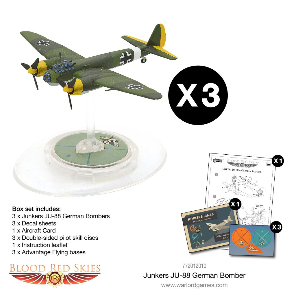 Junker JU88 German Bomber Model - Blood Red Skies