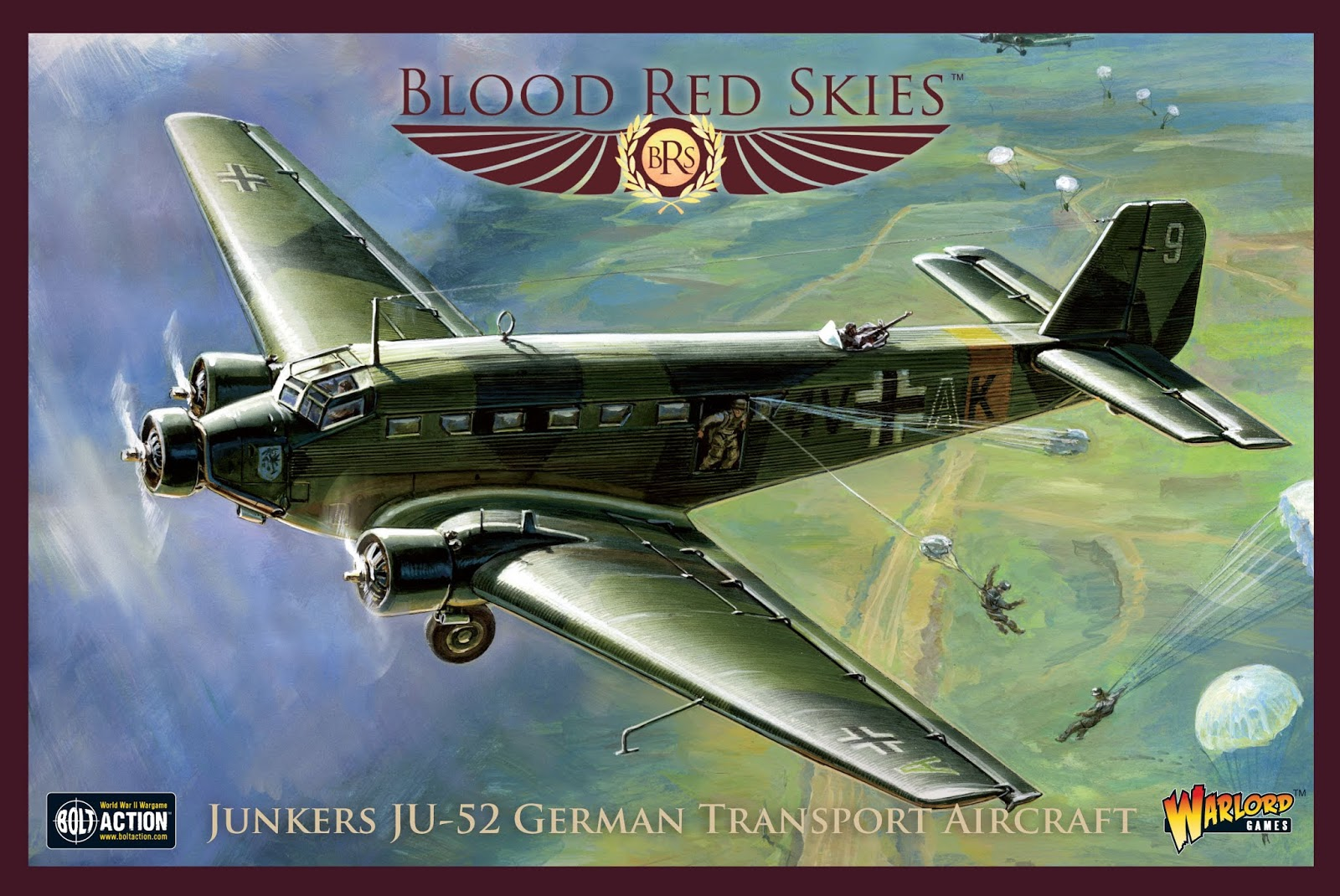 Junkers JU52 German Transport Aircraft - Blood Red Skies