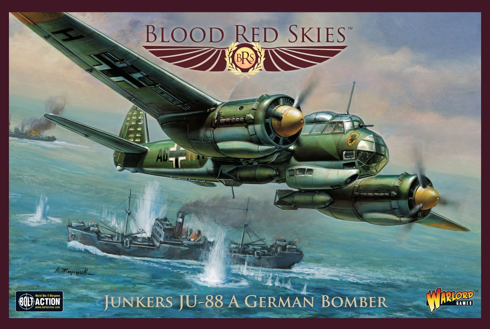 Junkers JU88 A German Bomber - Blood Red Skies