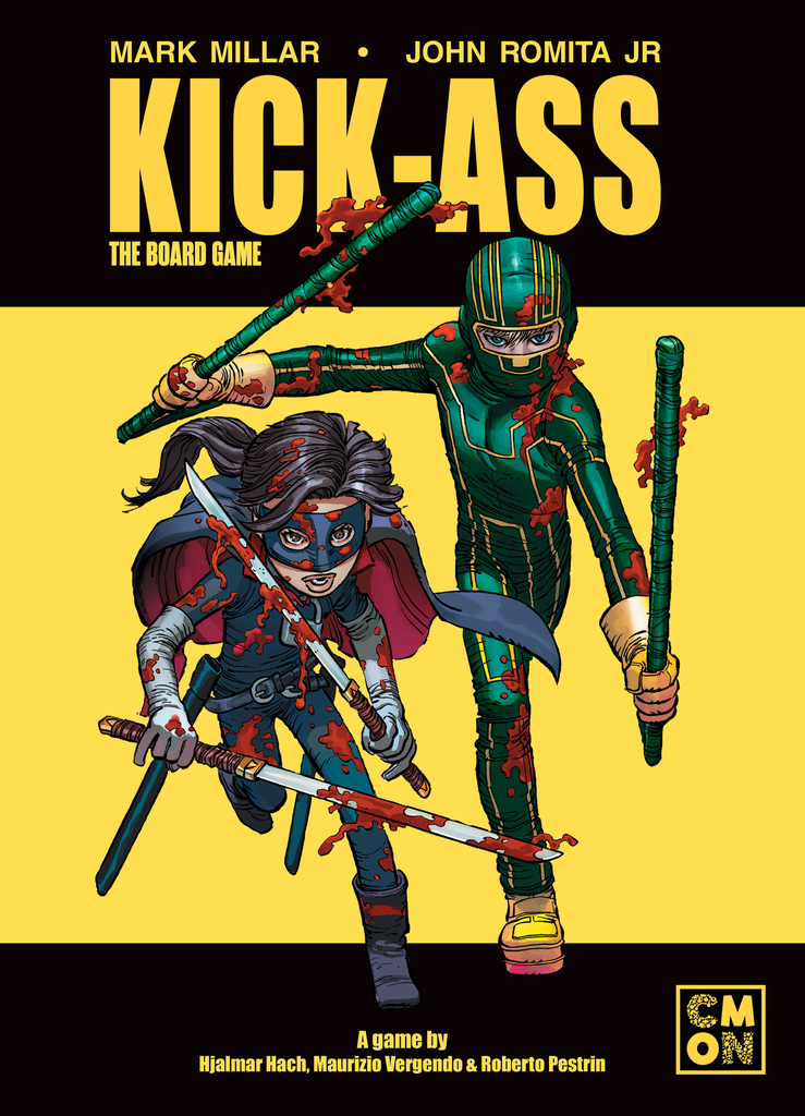 Kick Ass Board Game Cover - CMON