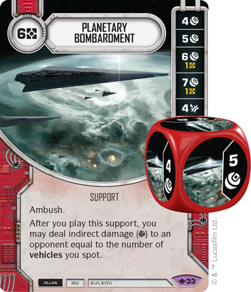 Planetary Bombardment - Star Wars Destiny