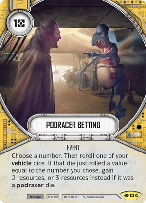 Podracer Betting - Star Wars Destiny