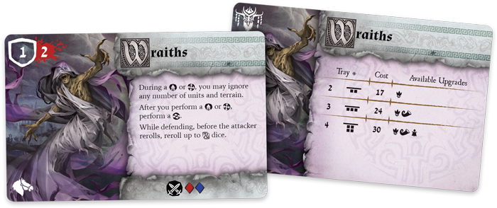RuneWars Wraith Cards - Fantasy Flight Games