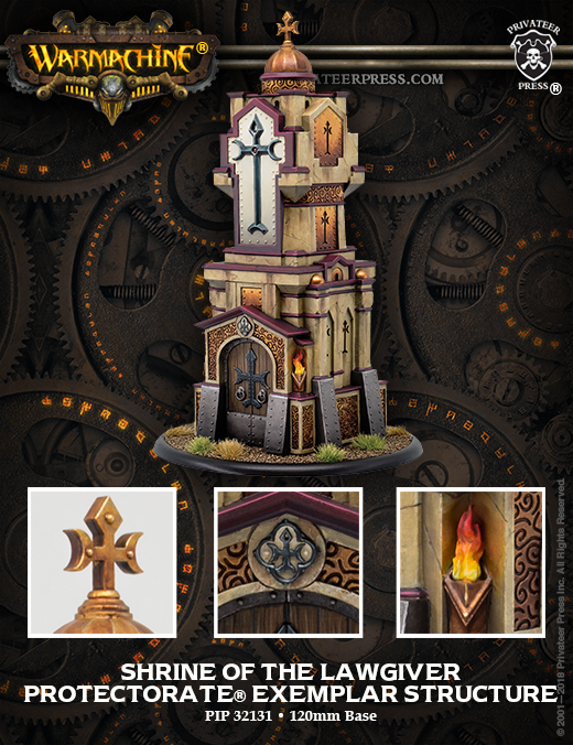 Shrine Of The Lawgiver Protectorate Exemplar Structure - Privateer Press