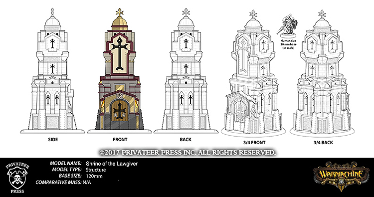 Shrine Of The Lawgiver (Scale) - Privateer Press