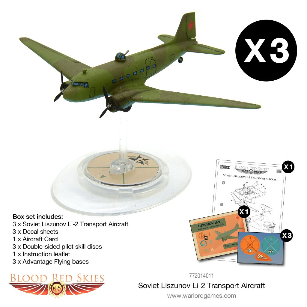 Soviet Liszunov Li2 Transport Aircraft Model - Blood Red Skies