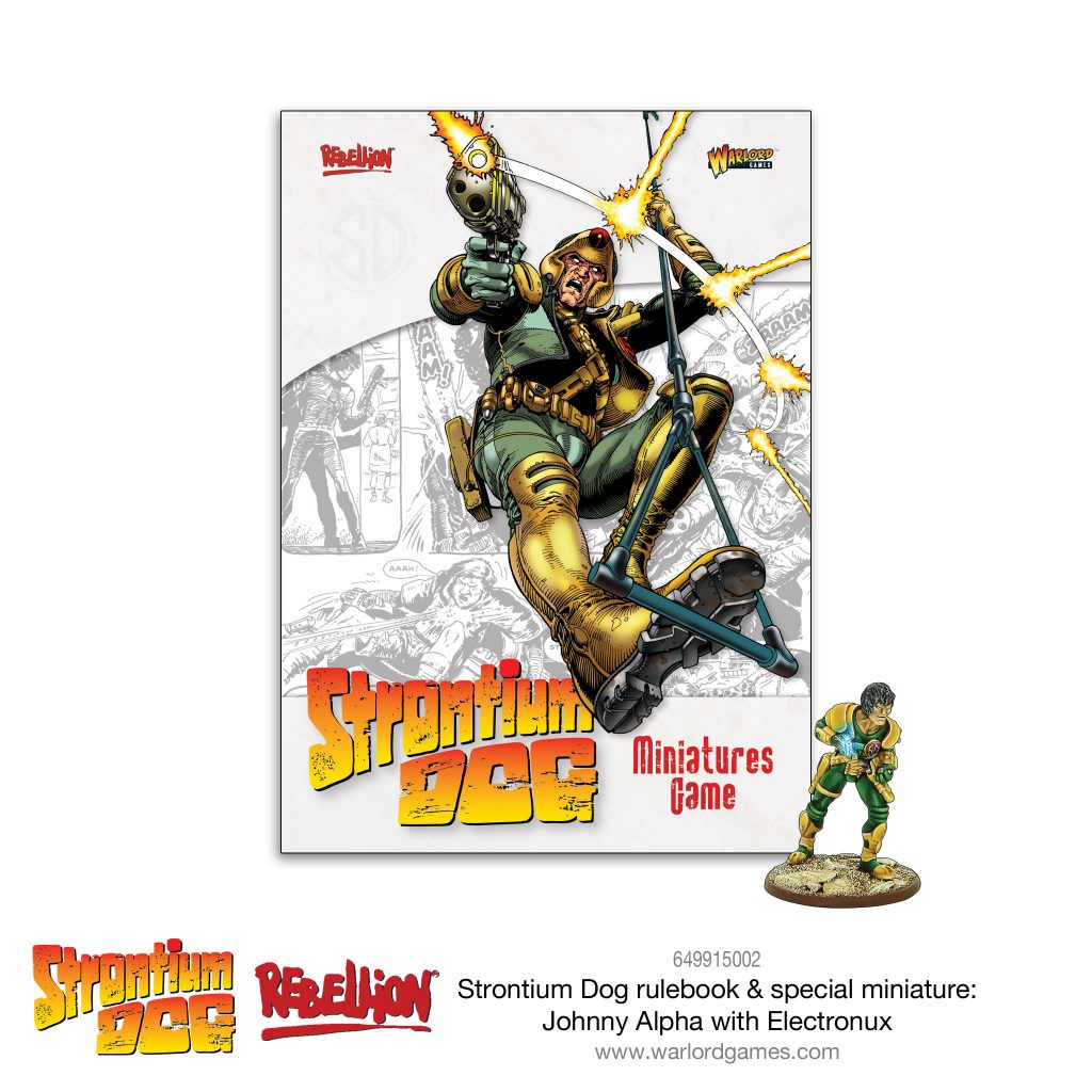Strontium Dog Rulebook + Exclusive Miniature - Warlord Games