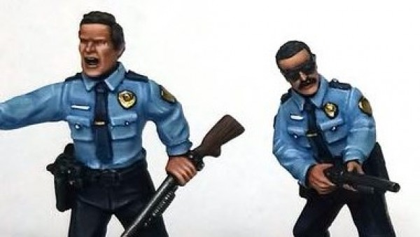 Hold Off The Bad Guys With Crooked Dice's Shotgun Armed Cops