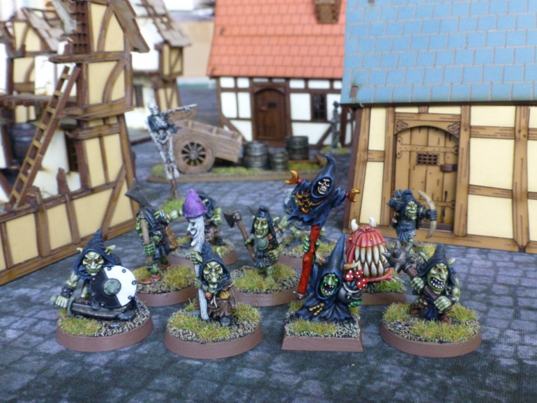 Witch, Apprentice, Infantryman, Man-at-Arms, War Hound, Archers and Thugs