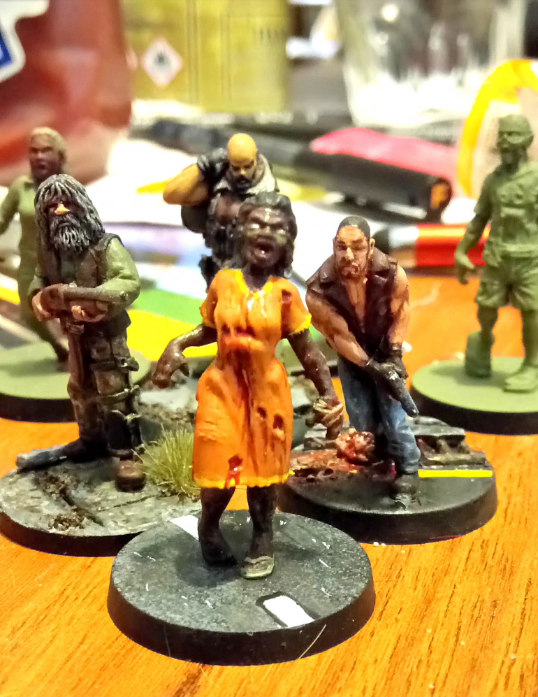 I am determined to get back to The Walking Dead miniatures and keep this project TWD themed. The Last Days Zombie Apocalypse has been intriguing and energizing hobby wise, but this will be an additional way to play rather than a replacement for this much loved game.