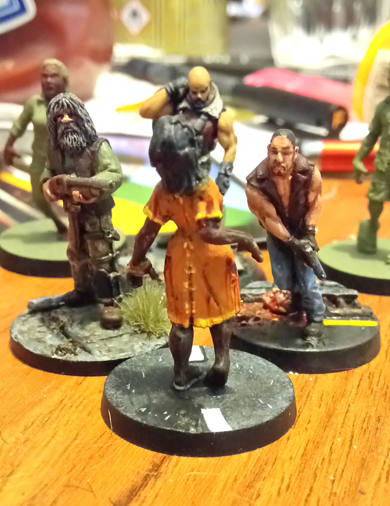 This Zombie was a pleasure to paint. She is from the Morgan booster pack.