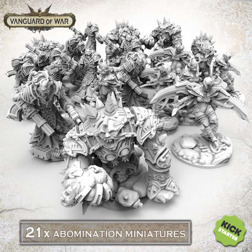 21 Abomination Miniatures - Vanguard Of War