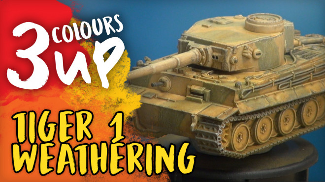 3 Colours Up: Painting A Tiger 1 – Part Two // Weathering