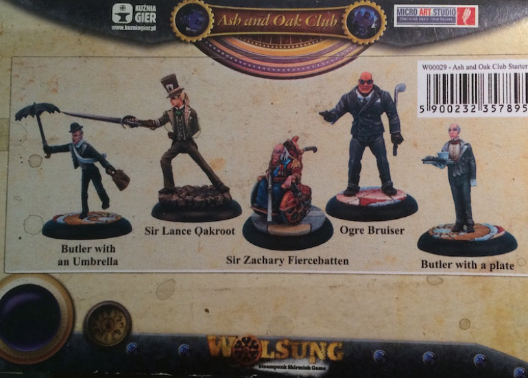 Here is the back of the box showing which figures I'd be starting with. Abinov Singh came separately in a blister pack.