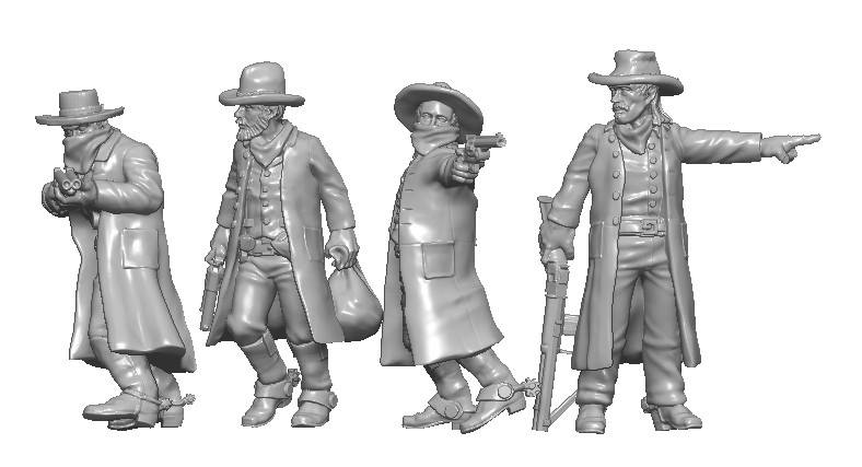 Bank Robbers - Knuckleduster Miniatures