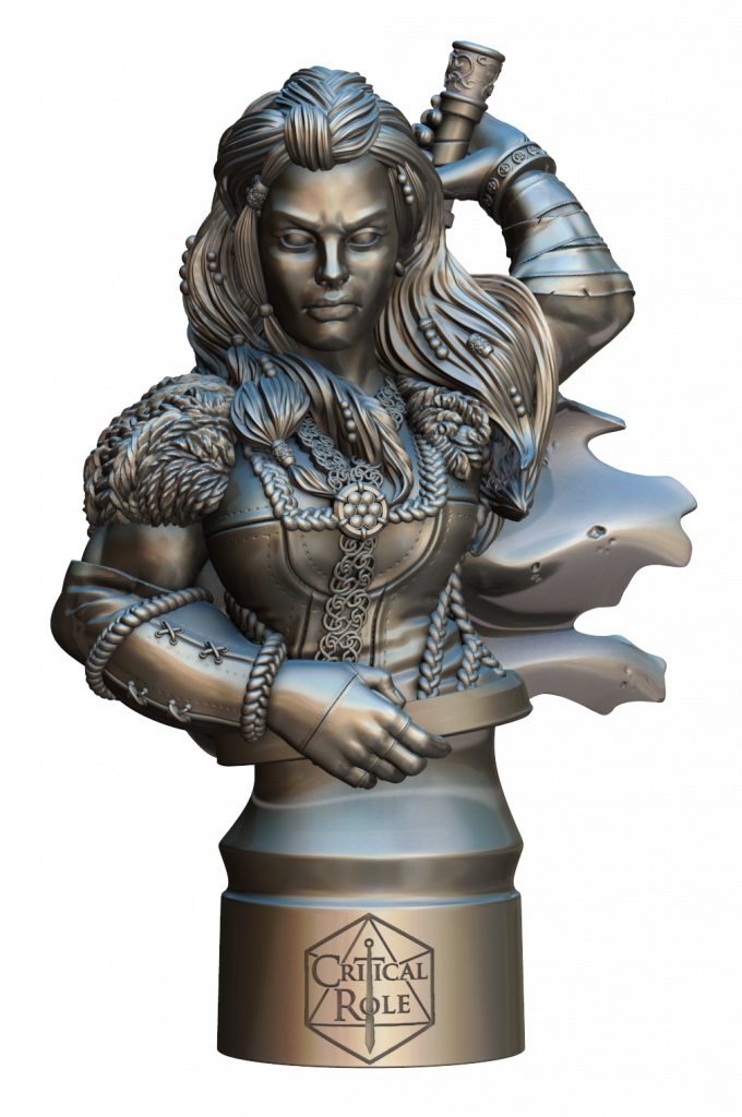 Critical Role Yasha Bust (Render) - Steamforged Games