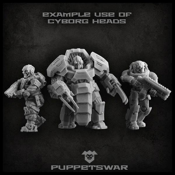 Cyborg Heads Examples - Puppets War