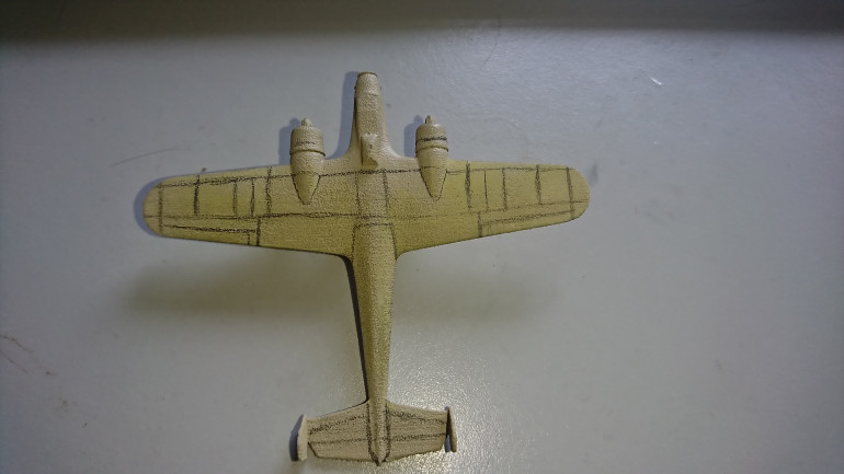The panel lines on the Dorniers