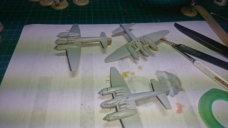 Ok so a change of plan, I realised the order I was painting the colours on was in the wrong order. So back to the drawing board. So the next stage is to paint the underside in Vallejo Air Pale Grey Blue.