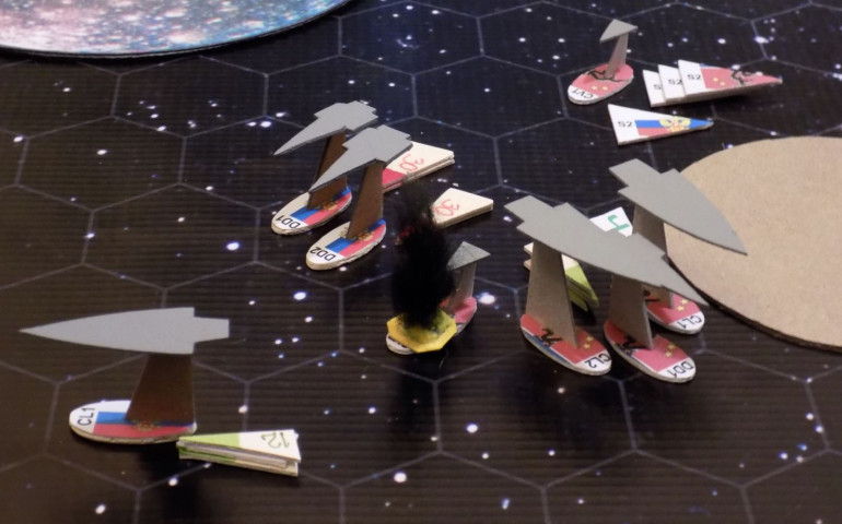 End of movement - Turn 02.  These torpedoes are about to hit, these guns are about to open fire, and and this corner of the Mu Ara star system is about to very, very messy.