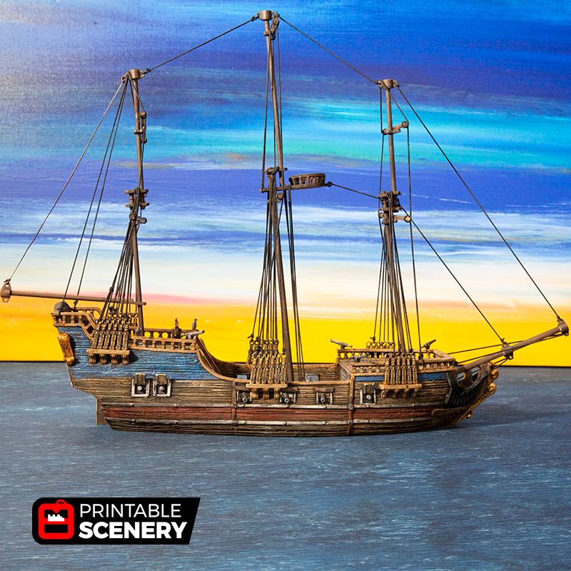 Frigate - Printable Scenery