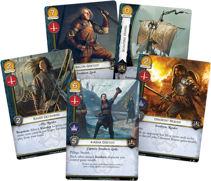 Game Of Thrones LCG Greyjoy Cards - FFG