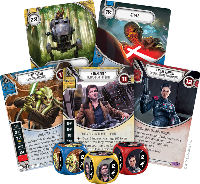 Star Wars Destiny Across The Galaxy (Card Fan) - FFG