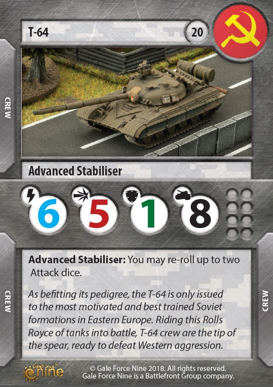 T-64 Card - TANKS