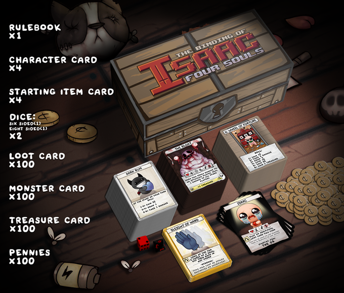 The Binding Of Isaac Four Souls Card Game Expansion: The Binding Of Isaac: Four Souls Brings The Video Game To