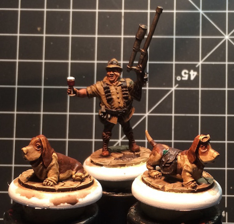 I used a mix of Agraz Earthshade and Seraphim Sepia washes to give them a solid, even coating.