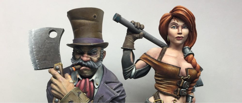 Avicenna Paints Guild Ball Busts