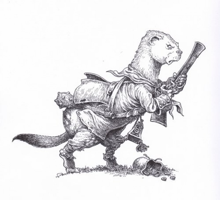 A weasel with a blunderbuss...