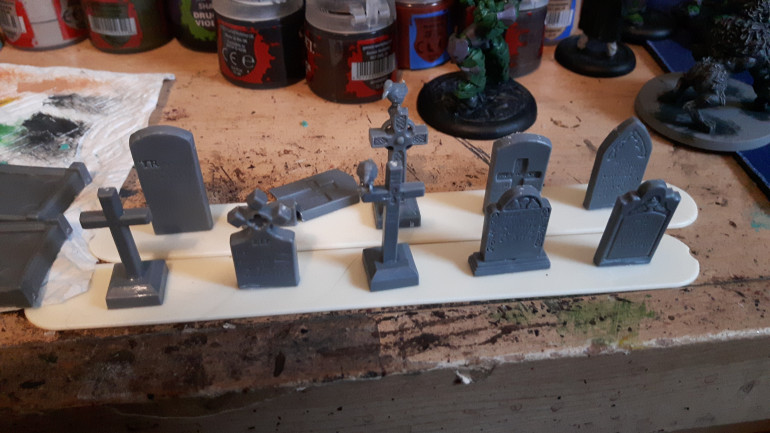 I had enough gravestones left to do two more bases.