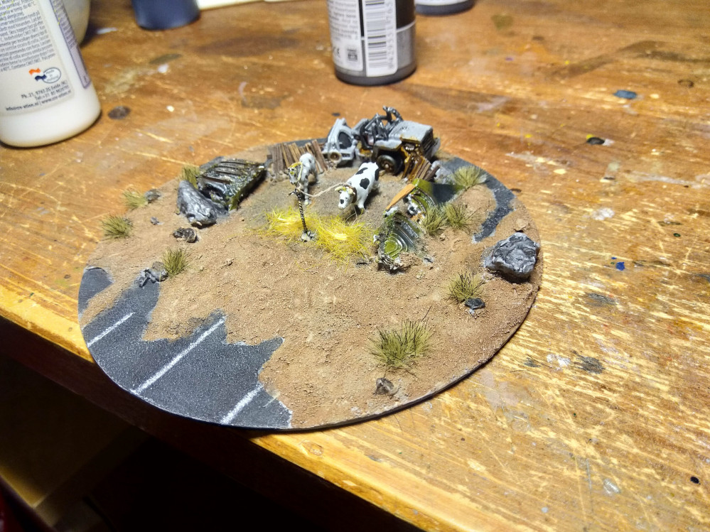 TERRAIN CHALLENGE – THE END IS NIGH: Dropzone Commander  Alpha Bait / 10 mm farm penn.