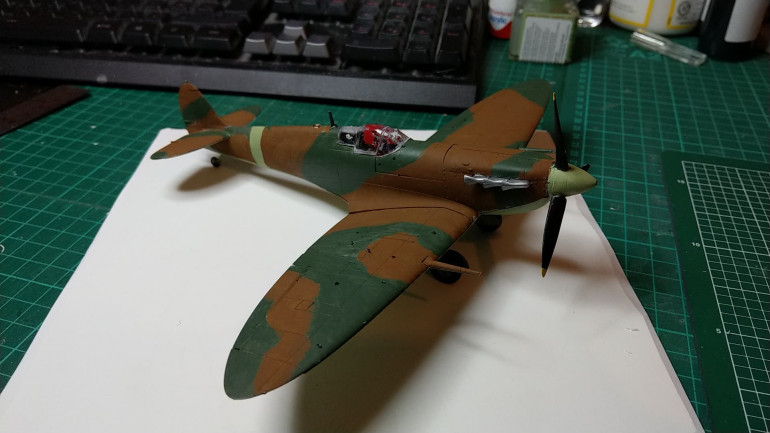 Completed plane on PVC base for size
