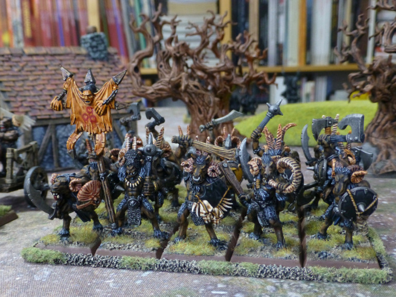 Beastmen are a constant threat to hamlets and villages throughout the Empire