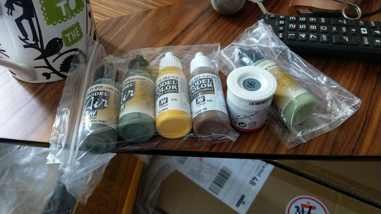 Extra paints for the project.