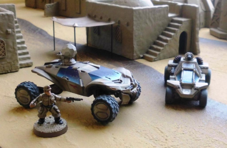 Light scout buggy (left) and smuggler buggy (right)