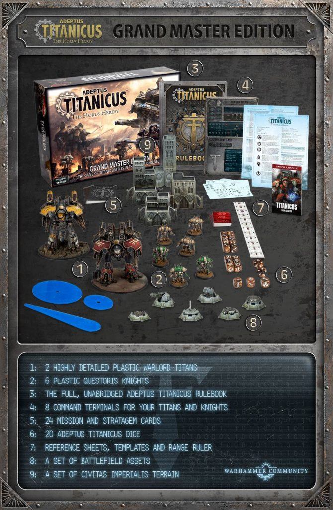 Adeptus Titanicus Grand Master Edition (Contents) - Games Workshop