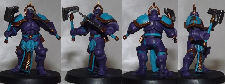 So I painted them Temple Guard Blue.