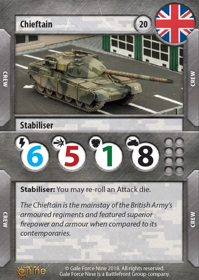 Chieftain Card - TANKS Modern
