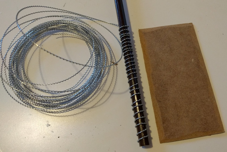 One of the lengths of coiled barbed wire