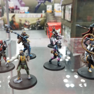 Infinity And Aristeia Get Played At The Corvus Belli Stand